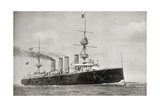 Hms Powerful, from 'South Africa and the Transvaal War' Giclee Print by Louis Creswicke