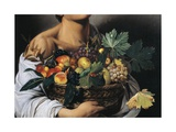 The Fruttaiolo or Boy with Basket of Fruit Giclee Print by  Caravaggio