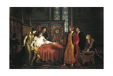 Charles VIII Visiting Dying Gian Galeazzo Sforza in Pavia Castle, 1494 Giclee Print by Pelagio Palagi