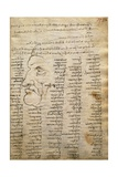 Word List and Male Profile, from Codex Trivulzianus, 1478-1490 Giclee Print by  Leonardo da Vinci
