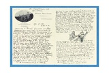 Autograph Letter to Col. H. W. Feilden, Hotel Bellvue Cannes, 9th April, 1921 Giclee Print by Joseph Rudyard Kipling