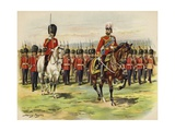 King George V as Prince of Wales Leading His Regiment, the Royal Fusiliers, at Aldershot Giclee Print by Henry Payne
