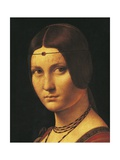 Portrait of a Lady, Probably Lucrezia Crivelli, 1495-1499 Giclee Print by Leonardo da Vinci