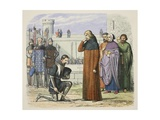 Meeting of Richard II and Henry Bolingbroke at Which Henry Demands the Throne Giclee Print by James William Edmund Doyle