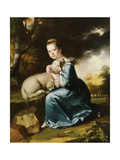 Portrait of Miss Frances Warren Giclee Print by Joseph Wright