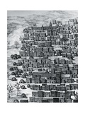 View of City of Timbuktu, Mali, Engraving from Travels Through Central Africa to Timbuctoo Giclee Print by Rene Caillie