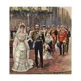 The Marriage of the Duke of Cornwall and York to Princess Mary Giclee Print by Henry Payne