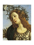 Figure of Minerva, Detail from Pallas Taming Centaur, Circa 1482 Giclee Print by Sandro Botticelli