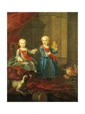 Daughters of Charles III of Bourbon Giclee Print by Giuseppe Bonito