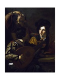 Viola Player, Detail from Drinking Party with Lute Player Giclee Print by Nicolas Tournier