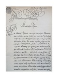 Letter to Prince of Saxony, Frederick Augustus Ii, Sent to Accompany the Mass in B Minor, Bwv 232 Giclee Print by Johann Sebastian Bach