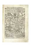 Title Page, Illustrating Herbal Distilleries with Figures in a Landscape, 1500 Giclee Print by Hieronymus Brunschwig
