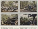Artillerie De 75, Obusier En Foret, Une Piece De 75 Abritee, Grosse Piece De Marine Photographic Print by Jules Gervais-Courtellemont
