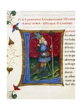 Initial Letter L Depicting Lysander Giclee Print by Pietro Candido Decembrio
