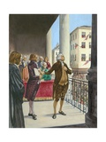George Washington Being Sworn in as the First President of America in New York Giclee Print by Peter Jackson