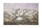 Mountain Range in East Africa, Engraving from Lake Regions of Equatorial Africa Giclee Print by Richard Francis Burton