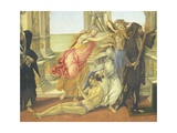 The Calumniated Being Dragged from Calumny, Detail from the Calumny, 1485-1496 Giclee Print by Sandro Botticelli