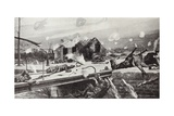 Lance-Corporal Charles Jarvis Blowing Up the Bridge at Jemappes, Belgium, 23 August, 1914 Giclee Print by Richard Caton Woodville II