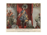 Frederick the Great Receiving Tribute from the Silesians in the Townhall of Breslau Giclee Print by Richard Knoetel
