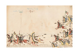 Under Cloud and Howling Wolf Fight with Gen. Sully in 1868 Giclee Print