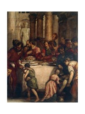 Banquet Scene, Detail from Dinner at Pharisee's House or Dinner at Simon's House Giclee Print by Paolo Caliari