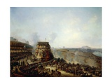 Emperor Napoleon III and Empress Eugenie Visiting Chaillot Hil Giclee Print by Louis Moullin