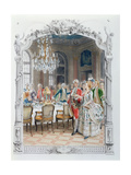 Elegant Meal During the Eighteenth Century Giclee Print by Maurice Leloir