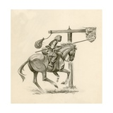 Prince Richard, the Future Richard the Lionheart, Practising at the Quintain Giclee Print by Peter Jackson
