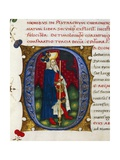 Initial Letter O Depicting Timoleon Giclee Print by Pietro Candido Decembrio