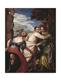Allegory of Virtue and Vice or Hercules' Choice, Circa 1580 Giclee Print by Paolo Caliari