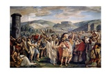 Athenians Abandoning Athens on Word of Themistocles, Athens, 1796-1798 Giclee Print by Luigi Ademollo