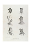 Negro Heads with Punishments for Intoxication and Dirt-Eating Giclee Print by Richard Bridgens