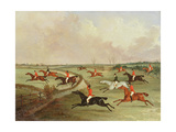 The Quorn Hunt in Full Cry: Second Horses Giclee Print by John Dalby