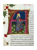 Initial Letter Depicting Aristide Giclee Print by Pietro Candido Decembrio