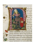 Initial Letter P Depicting Pericles Giclee Print by Pietro Candido Decembrio