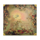 Sketch for a Ceiling Painting: the Institution of the Order of St Charles III Giclee Print by Vicente Lopez y Portana