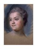 Portrait of Mademoiselle De Chastagner De Lagrange Giclee Print by Maurice-quentin De La Tour