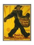 Freiheit, Friede, Arbeit, Wählt Die Deutsche Volkspartei in Bayern, Pub. Munich, 1919 Giclee Print by Valentin Zietara
