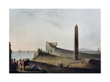 The Obelisks of Alexandria known as Cleopatra's Needles, Engraving Giclee Print by Luigi Mayer