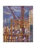 The Building Sites of Paris Giclee Print by Maximilien Luce