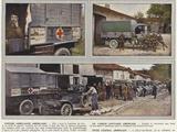 Voiture Ambulance Americaine, Un Camion Sanitaire Americain, Poste Central Americain Photographic Print by Jules Gervais-Courtellemont