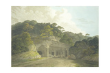The Entrance to the Elephanta Cave Giclee Print by Thomas & William Daniell