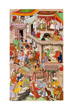 Akbar's Household Rejoicing at the Birth of His Second Son Giclee Print
