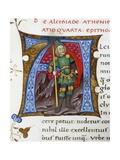 Initial Letter Depicting Alcibiades Giclee Print by Pietro Candido Decembrio