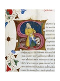 Initial Letter S Depicting Solon Giclee Print by Pietro Candido Decembrio