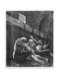Jean Valjean in Prison, Illustration from 'Les Miserables' Giclee Print by Victor Hugo