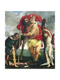 St Christopher Between Saints Rocco and Sebastian, 1532-1535 Giclee Print by Lorenzo Lotto