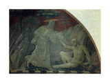Stories of the Genesis: Creation of the Animals and Creation of Adam, 1430 Giclee Print by Paolo Uccello