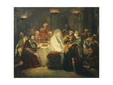 Banquo's Ghost Appearing in Front of Macbeth, Scene Taken from Macbeth by William Shakespeare, 1854 Giclee Print by Theodore Chasseriau