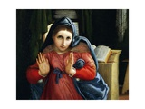 The Virgin Announced, Detail from the Annunciation, Ca 1434 Giclee Print by Lorenzo Lotto